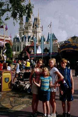Cinderella's Castle and the foursome